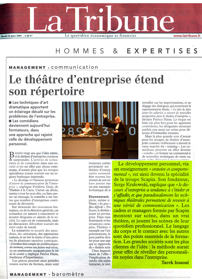 Presse 2005 La Tribune